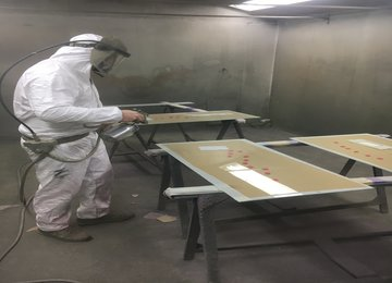 free issue glass painting service